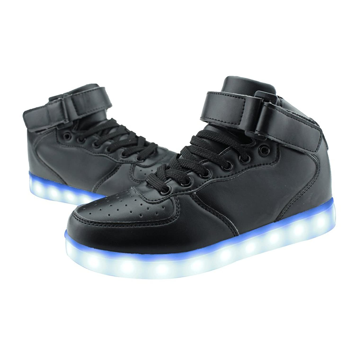 Amazon.com | SENFI Upgraded Kids Light up Shoes High Top Flashing ...