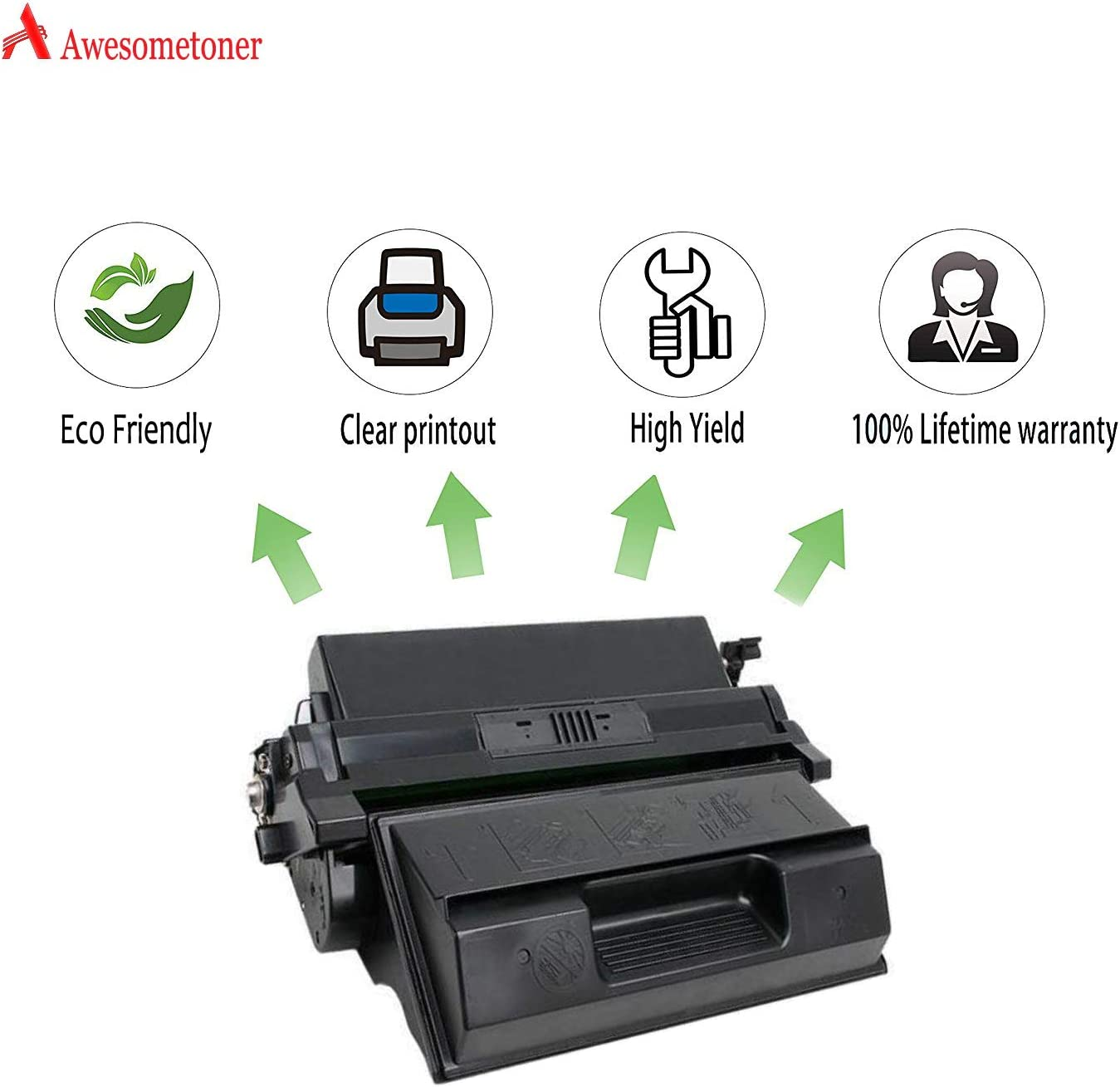 Black, 3-Pack Awesometoner Compatible Toner Cartridge Replacement for Xerox 113R446 use with Phaser 4400 N2125