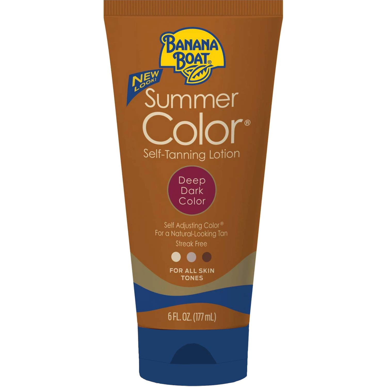Summer Color Self Tanning Lotion - Deep Dark Color, 6 Ounces each (Value Pack of 4) by Banana Boat