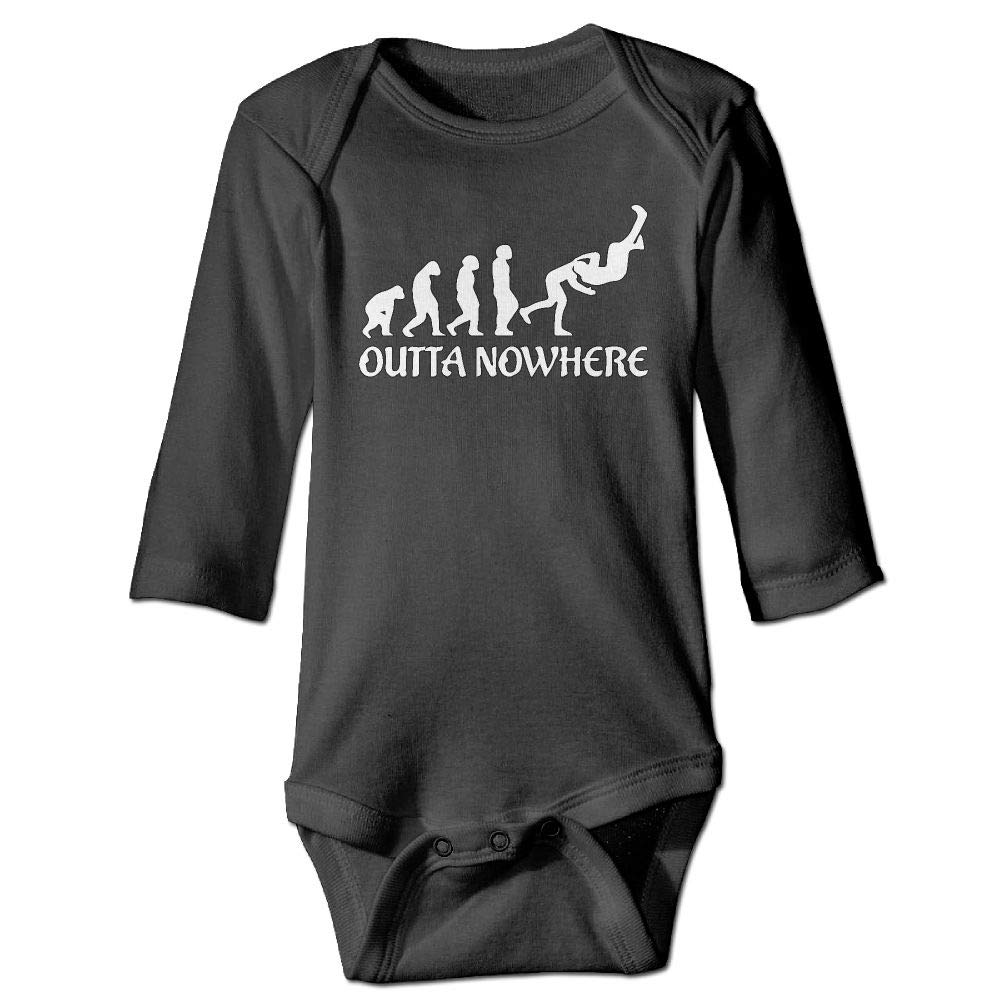 Clarissa Bertha Wrestling Outta No Where Funny Baby Newborn Long Sleeve Onesies Bodysuits by Clarissa Bertha