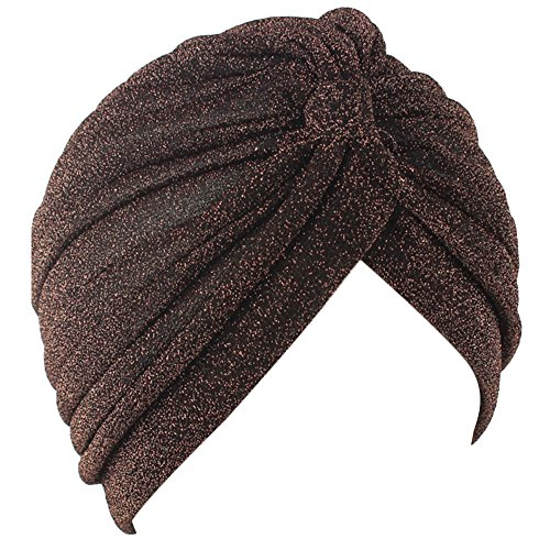60d5853ce4b Aquiver Women s Unisex Indian Style Stretchy Turban Hat Hair Head Wrap Cap  Headwrap Scarf Turban Sleep Cap