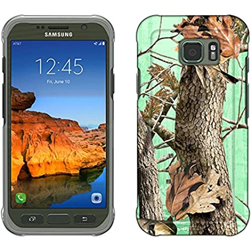 Samsung Galaxy S7 Active Case, Snap On Cover by Trek Camo Tree on Green Slim Case Sales