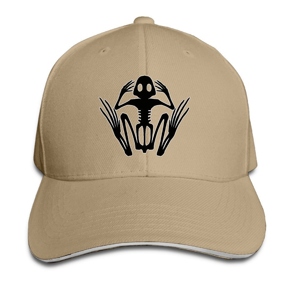 Amazon.com  Navy Seal Skeleton Frog Logo Fitted Hat Baseball Caps ... 9e452f0d374