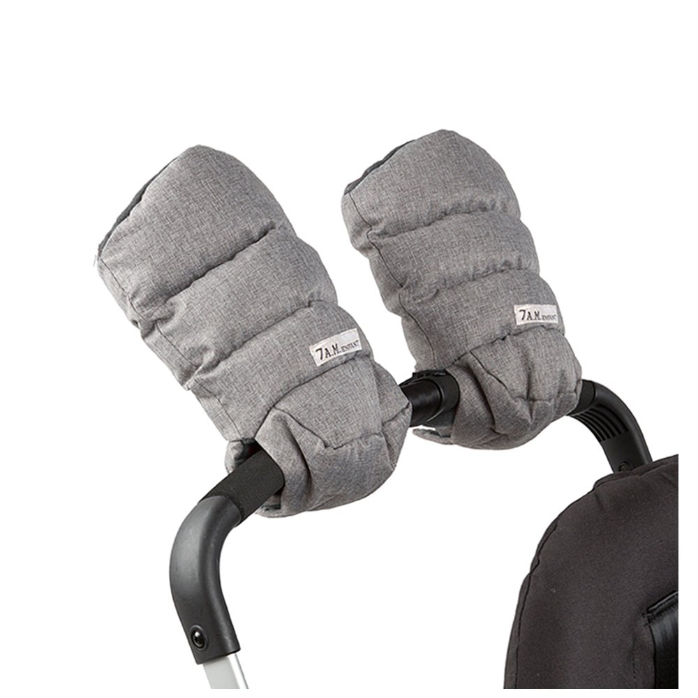 7 A.M. Enfant Warmmuffs Stroller Gloves with Universal Fit (Heather Grey)