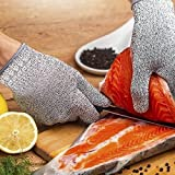 global meat - AGT Cut Resistant Gloves, High Performance Protection, Garden Kitchen Yard Work Gloves,Cut Tree Wood Meat Fish Safety (M)