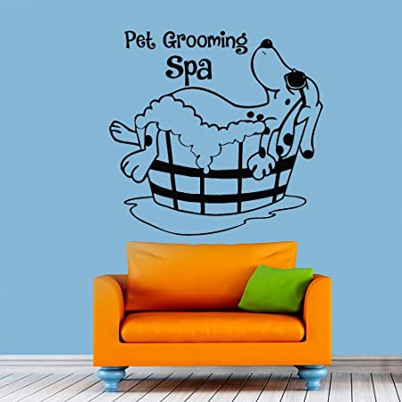 Pet Grooming Wall Decal Dog Grooming Salon Decals Vinyl Stickers Puppy Pet Shop Animal Decor Nursery  sc 1 st  Amazon UK & Pet Grooming Wall Decal Dog Grooming Salon Decals Vinyl Stickers ...