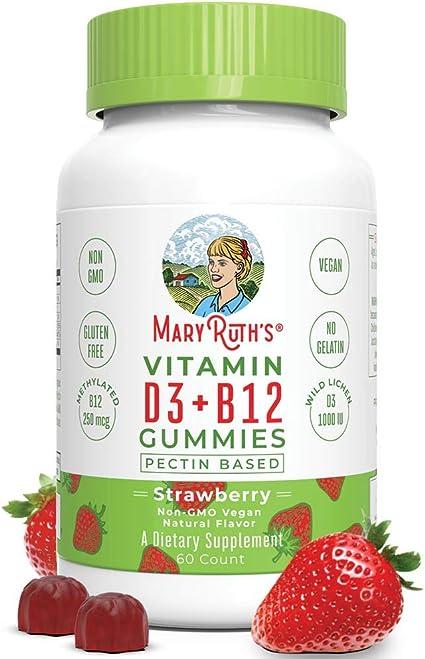 MaryRuth's Organics Vegan Vitamin D3+B12 Gummy