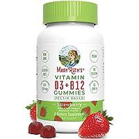 Vegan Vitamin D3+B12 Gummy (Plant-Based Gummies) by MaryRuth's - Made w/Organic Ingredients Non-GMO Vegan Paleo Gluten…