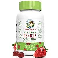 Vegan Vitamin D3+B12 Gummy (Plant-Based Gummies) by MaryRuth's - Made w/Organic...