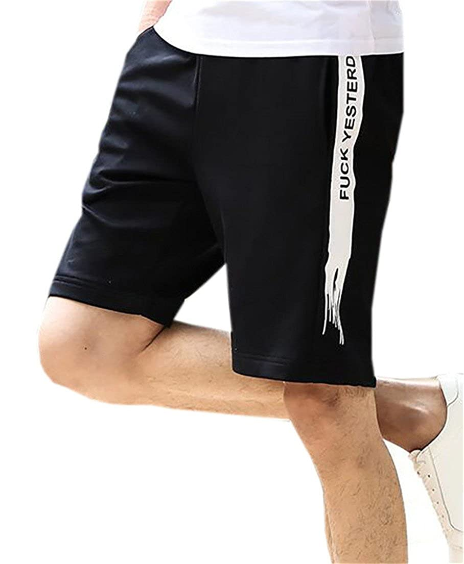 5d59583e50 BYWX-Men Slim Fit Boardshort Straight Leg Shorts with Pockets ...
