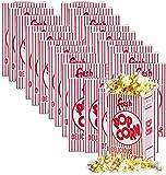 Popcorn Box Small .74 Oz Fresh Pop Corn Logo Red White Stripe Classic Party Snack Favor Fun Sized Box (25)