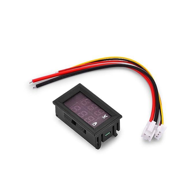 5 opinioni per qobobo® Digitale Voltmetro DC 100V 10A Amperometro Pannello Metro Indicatore