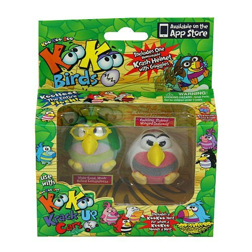 KooKoo Zoo Flocked Birds 2-Pack - Scalawag and Lollapalooza