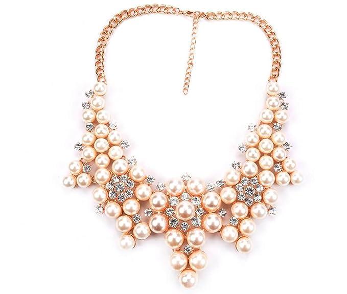 66cbbb4a954c MSNHMU Vintage Pearl Necklace Collar De Perlas De Moda Corto