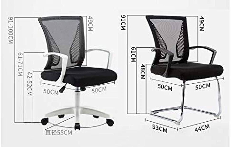 Skrivbordsstolar kontorsstol svängbar stol lyft spelstol verkställande stol student sovsal stol kontor (färg: grå) SVART