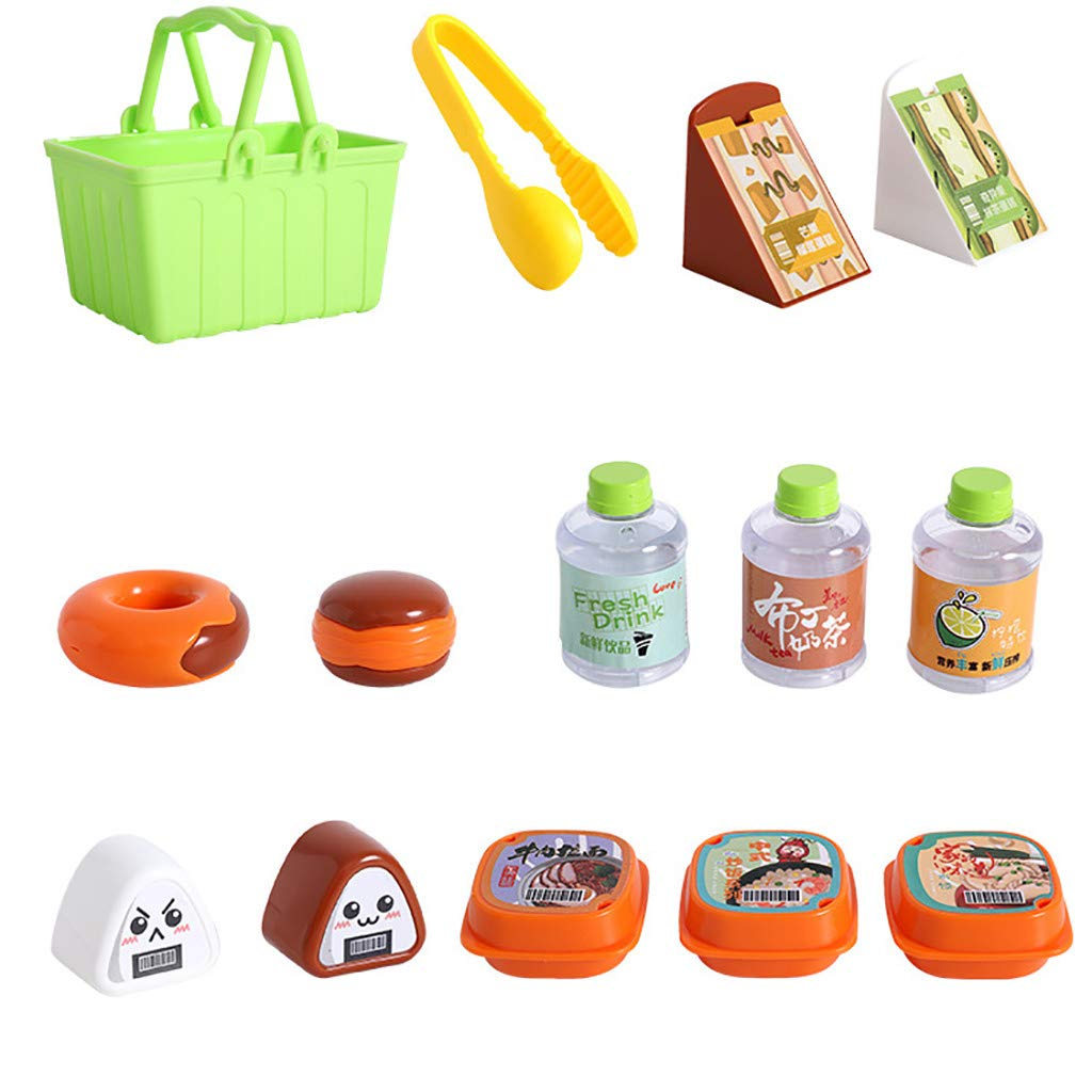 eiaagi Kids Supermarket Shopping Pretend Play Toys Set, Suitable for Cultivating
