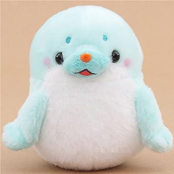 Muñeco de peluche foca azul claro y blanco de Japón