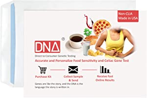 DNA Test for Celiac Gluten Genes and Food Sensitivity; Performed at-Home