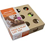 Paws & Claws Interactive Peek & Play Cat Toy - Brown