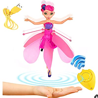 Anda Flying Fairy Doll Girl 6 Years Old, Infrared Sensor Control Remote Control Helicopter Child Toy Teen Toy Ballet Girl Flying Princess Doll: Toys & Games
