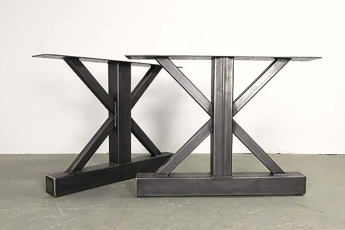 Amazon com: Metal table legs, Steel table legs, Custom sizes