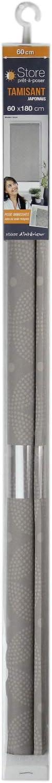 Coton dint/érieur 1950091 Enrouler Japonais 60 x 90 cm Polyester Blanc