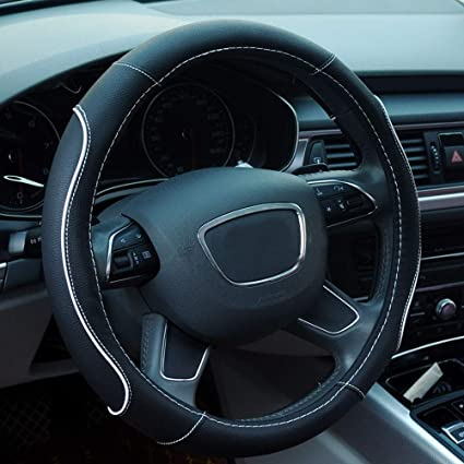 Couvre volant 38CM Car-Styling Couvre volant anti-d/érapant Accessoires pour voiture Beige
