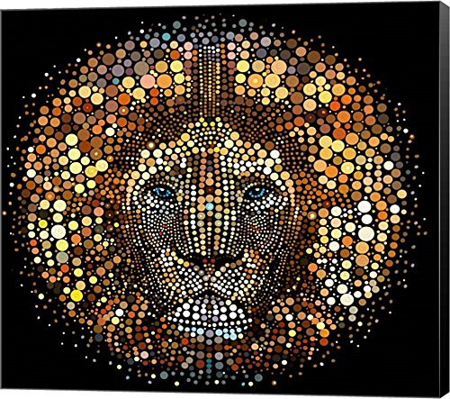 Paint Dawb Lion by ALI Chris Canvas Art Wall Picture,