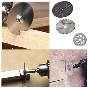Hamineler 36PCS Rotary Cutting Wheels Tool Kit, Mini Diamond Cutting Wheel and HSS Circular Saw Blades and Resin Metal Cutting Wheels Tools Wood Metal Stone Cutting