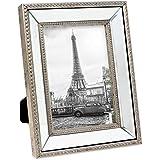 Isaac Jacobs Mirror Bead Frame (5x7, Silver)