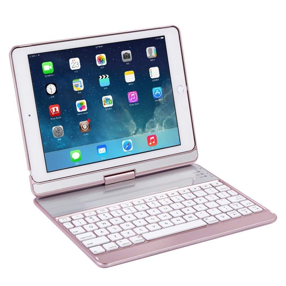 KINGEAR K760 New iPad Wireless Keyboard Case for iPad Pro 9.7 / 2017 New iPad 9.7 / iPad Air / iPad Air 2 (Rose gold)