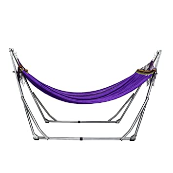 unho colorful hammock with space saving folding steel stand includes portable carrying case for indoor  u0026 unho colorful hammock with space saving folding steel stand      rh   amazon co uk