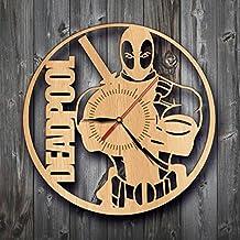 Deadpool Movie Wood Clock Wall Art Home Decor Gift