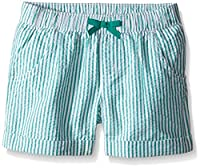 Gymboree Girls' Big Green Seersucker Short, Multi, 7