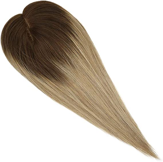 Ugeat 10 Pulgada Hair Topper Extensions Straight Cabello Humano ...