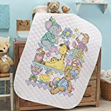 quilt cross stitch kits - Baby by Herrschners Pre-Quilted Playland Baby Quilt Stamped Cross-Stitch Kit