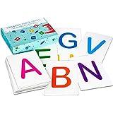Attractivia Magnetic Alphabet ABC Flash Cards - 26 Uppercase Large Letters - for Teachers, Parents, ESL