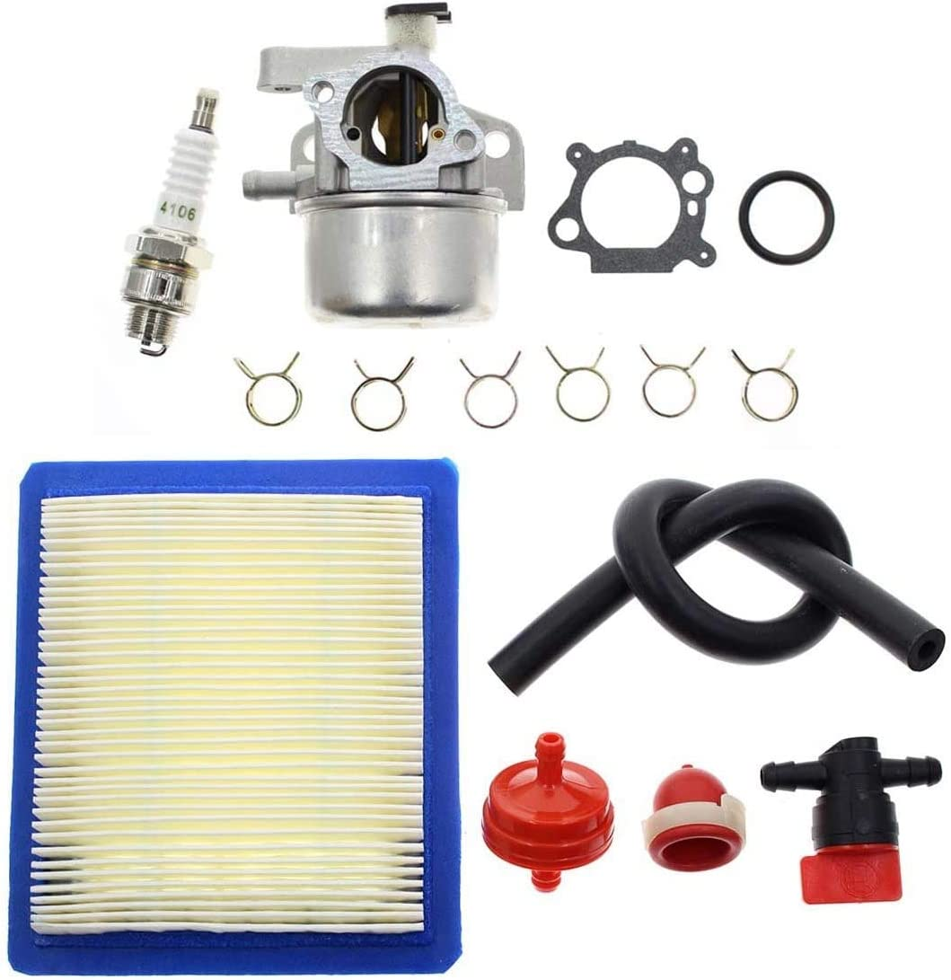 ACAMPTAR Kits de Carburador para Briggs y Stratton 799866 790845 799871 796707 794304 12H800 Motor Toro Lawn Mower Carb Recycler