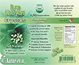 Aloe Vera Juice Crystals (Inner-leaf Gel Certified Organic) 48 Pkg's = 48-Gal's of AloeVera Gel-Juice Cryogenic Frozen Bio-active Cold process Non-gmo Polysaccharide Rich by Natur-Pur