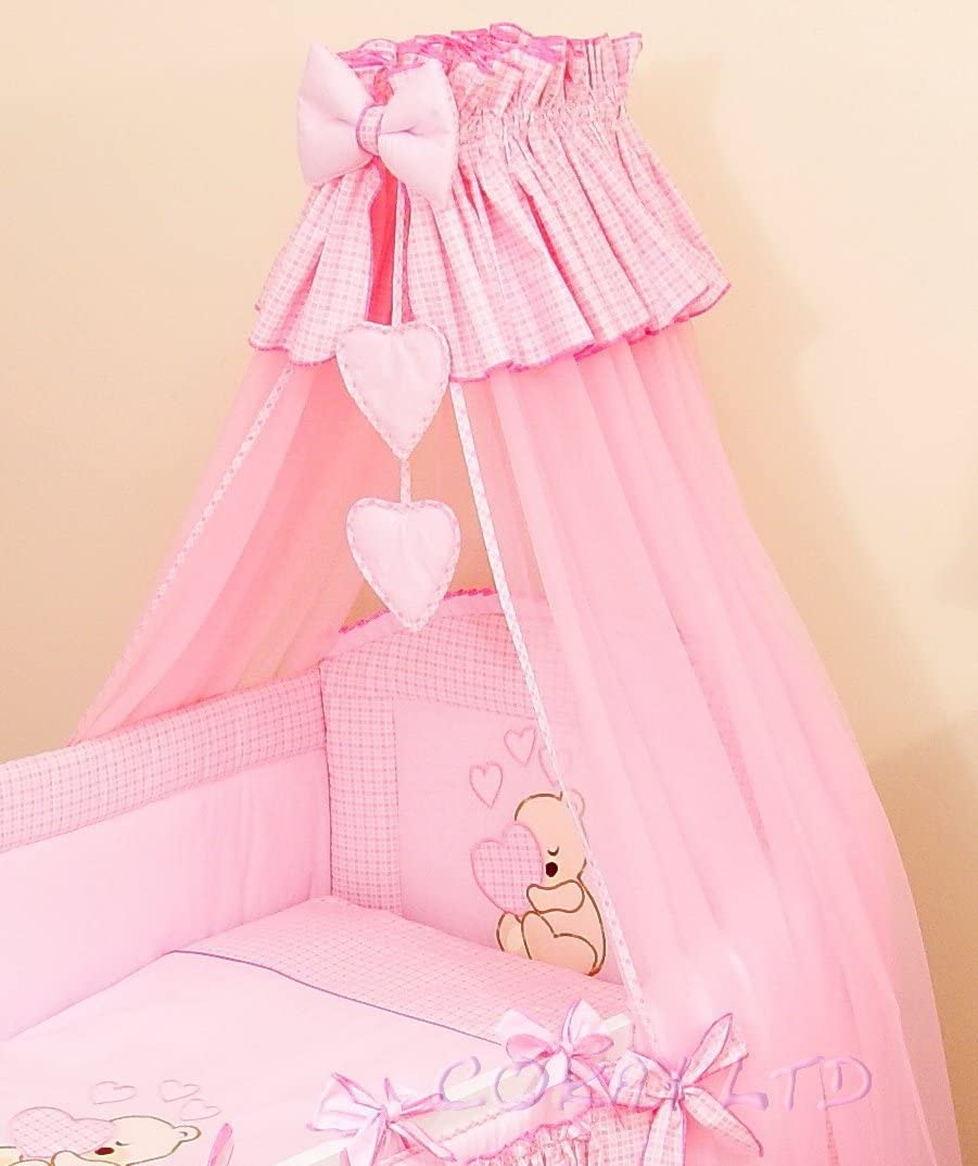 Stunning Baby Cot//Cot Bed Canopy Drape// Mosquito Net Big 320cm and Holder BEIGE//TAN
