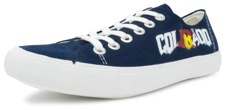 Colorado Flag Sneakers | Cute, Fun Rocky Mountain Tennis Shoe for Women or Men - (Lowtop, US Men's 11, US Women's 13)