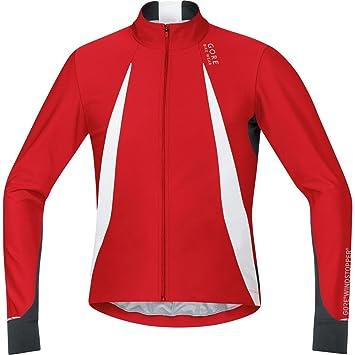 29b265569 Gore Bike Wear Men s Oxygen Windstopper Long Sleeve Jersey - Red Black