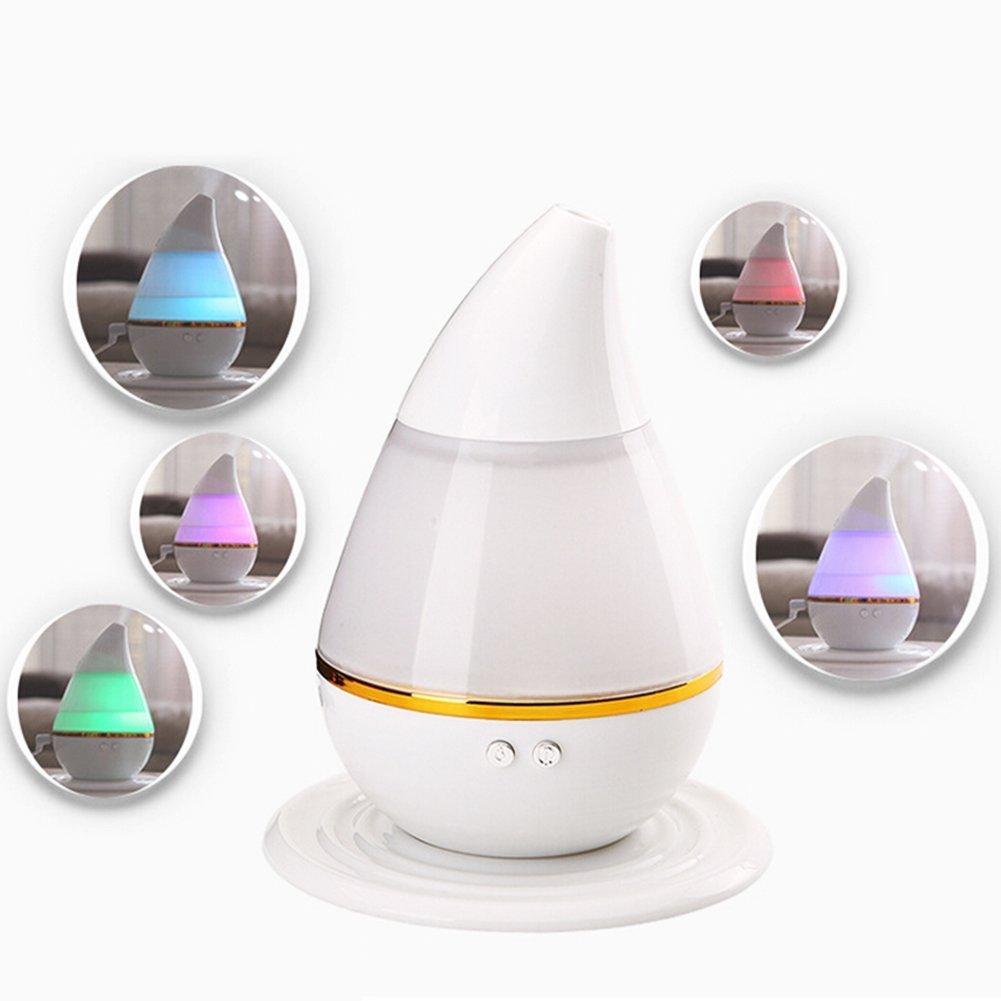 Ultrasonidos Difusor de Aroma Humidificador Ultra Mini Portable Usb Powered Auto Humidificador con Luces Led de 7 Colores y Apagado AutomáTico (Auto) san7c
