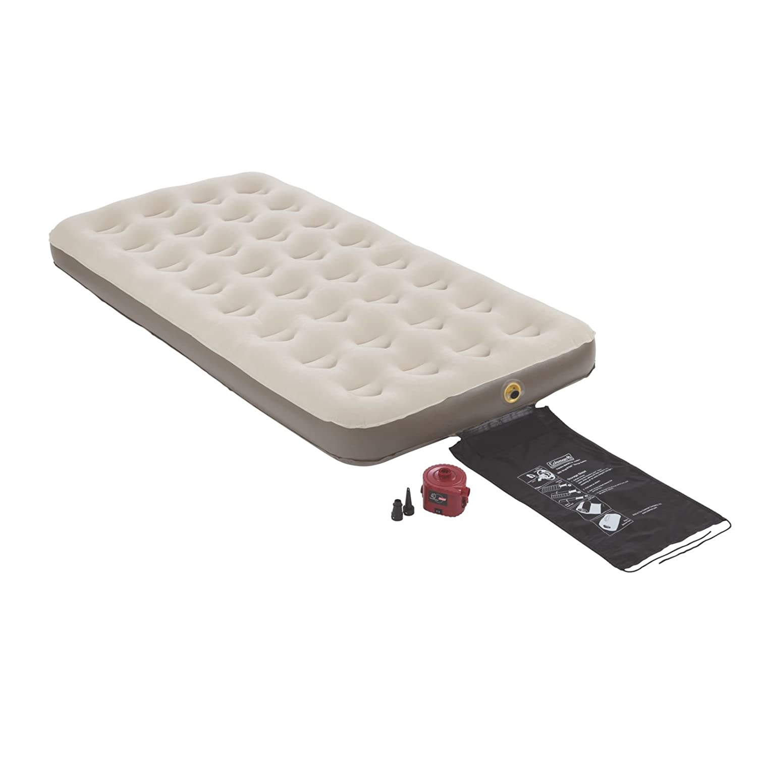 queen size air mattress coleman. Amazon.com : Coleman Quickbed Plus Airbed With 4D Pump Twin, Full, Queen And King Sports \u0026 Outdoors Size Air Mattress