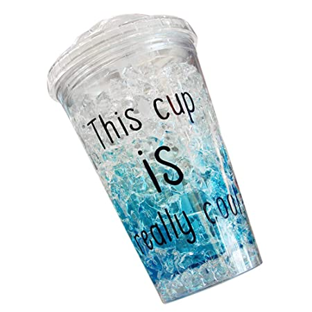 Tazas de enfriamiento, doble pared de gel para congelador, taza de ...