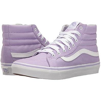 caae9e65e6a4 Vans Sk8-hi Slim(VA32R2MMD) - Lavender true White - 3.5  Amazon.co.uk   Sports   Outdoors