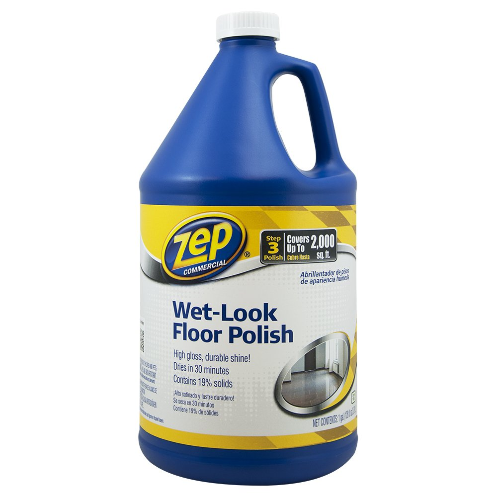 Zep Commercial 1044898 Wet Look Floor Polish, 1 gal Bottle