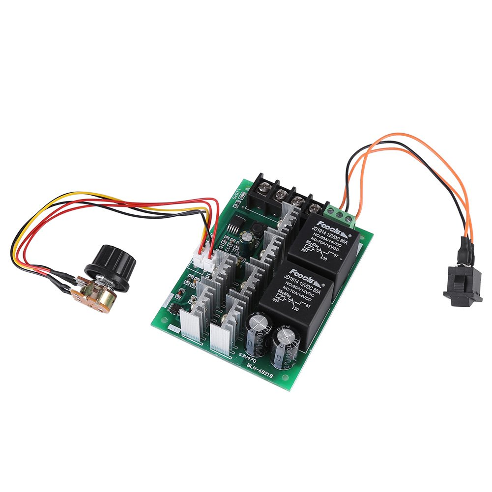 DC10-50V 40A PWM DC Motor Speed Controller Reversible Motor Reversing Module with Forward/ Reverse /Off Switch Walfront