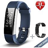 Lintelek Fitness Armband Herzfrequenzmesser Fitness Tracker Plus HR Sport Uhr Bracelet Spritzwasser geschützt Bluetooth Smartwatch Schrittzähler GPS