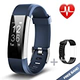 Amazon Price History for:Lintelek Fitness Tracker, Heart Rate Monitor Activity Tracker with Connected GPS Tracker, Step Counter, Sleep Monitor, IP67 Waterproof Bluetooth Pedometer for Android and iOS Smartphone
